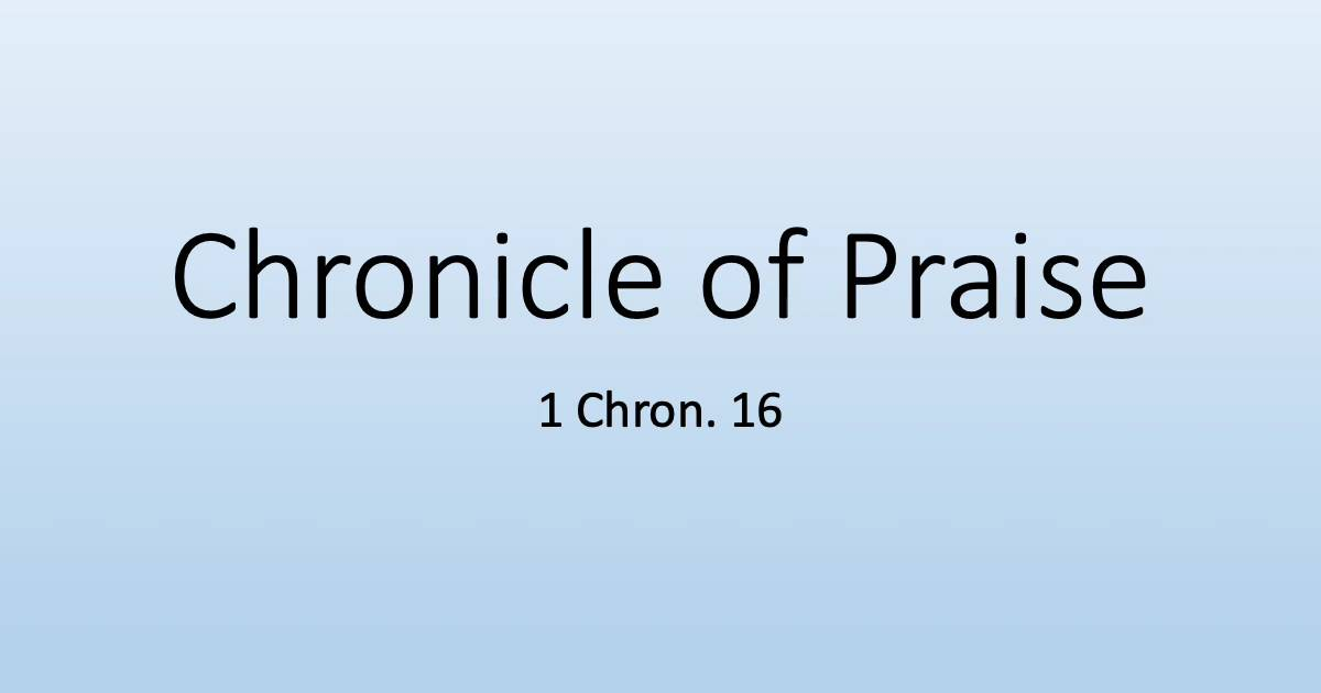 chronicle-of-praise