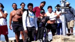football-team-carries-man-in-wheelchair-to-fremont's-mission-peak