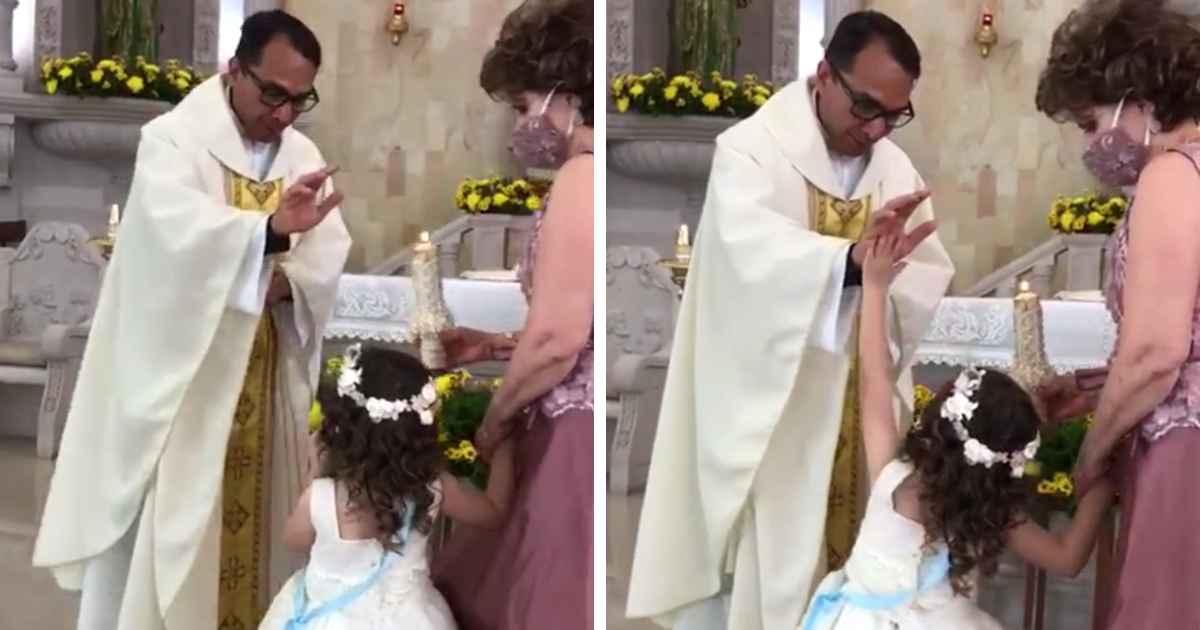 girl-high-five-priest