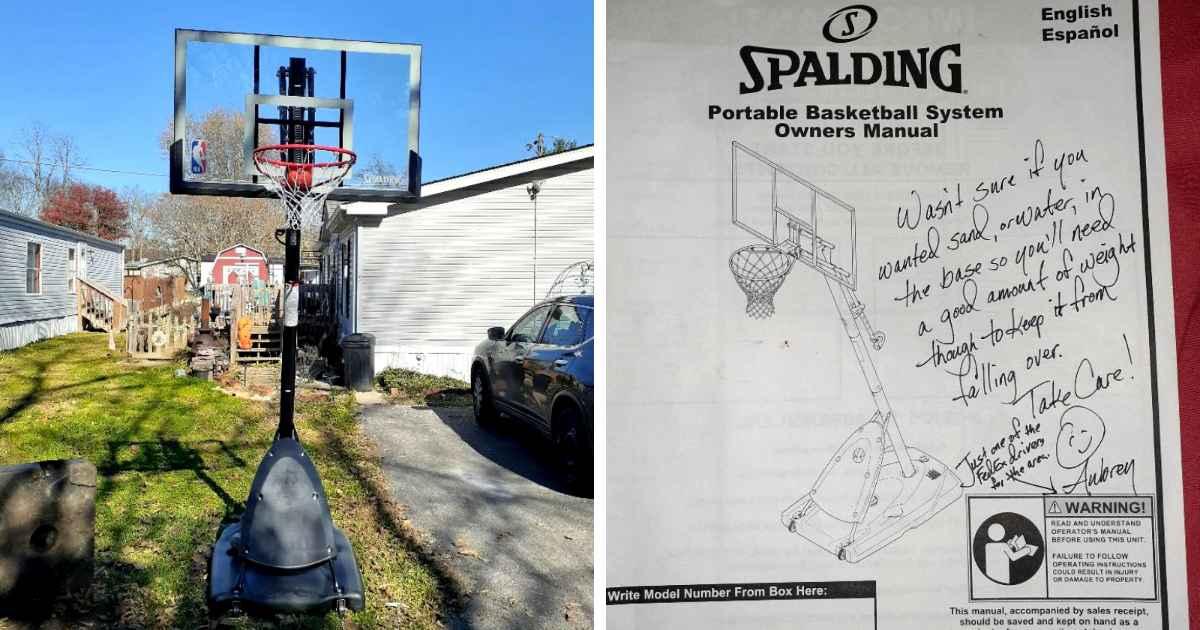 fedex driver basketball hoop