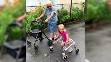 toddler-with-cerebral-palsy-walking-with-great-grandma