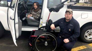 mechanic-fixes-woman's-wheelchair-christian-barber