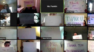 students-thank-teacher-on-zoom