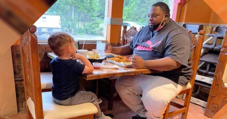 little-boy-dine-with-stranger