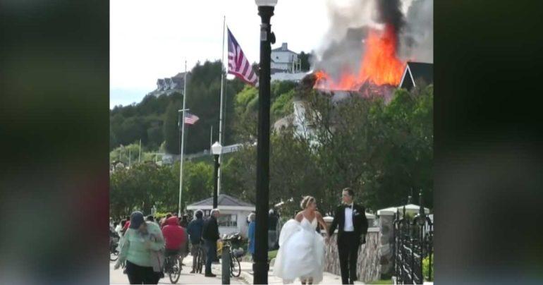 michigan wedding fire