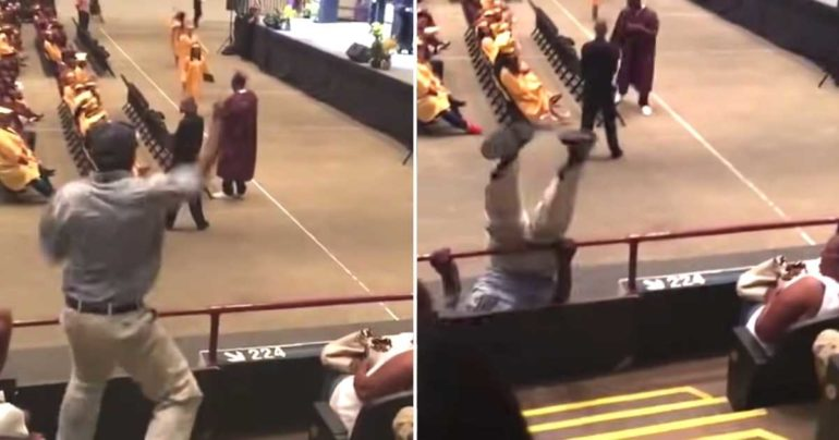 dancing dad graduation