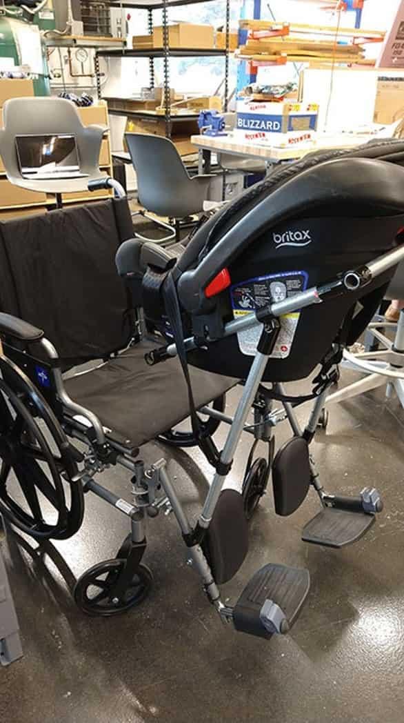 students build wheelchair