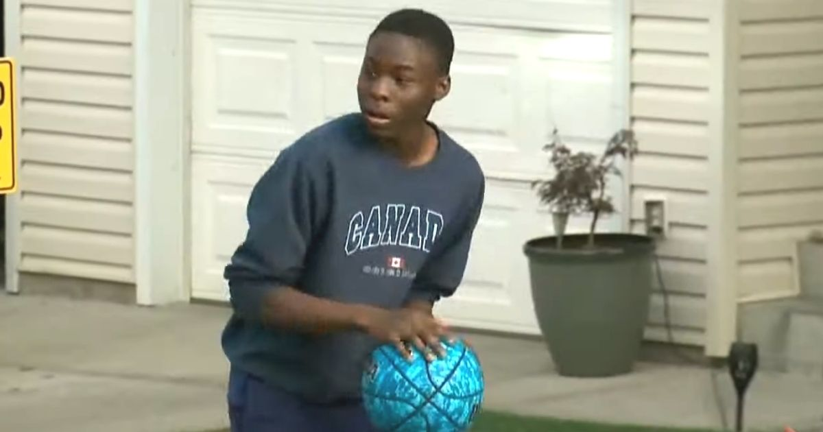 neighbor surprises basketball fan