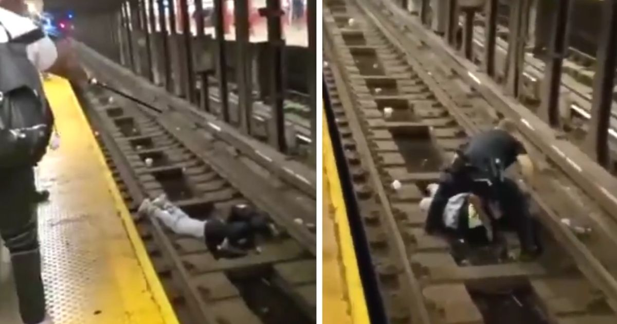 man rescued from subway tracks