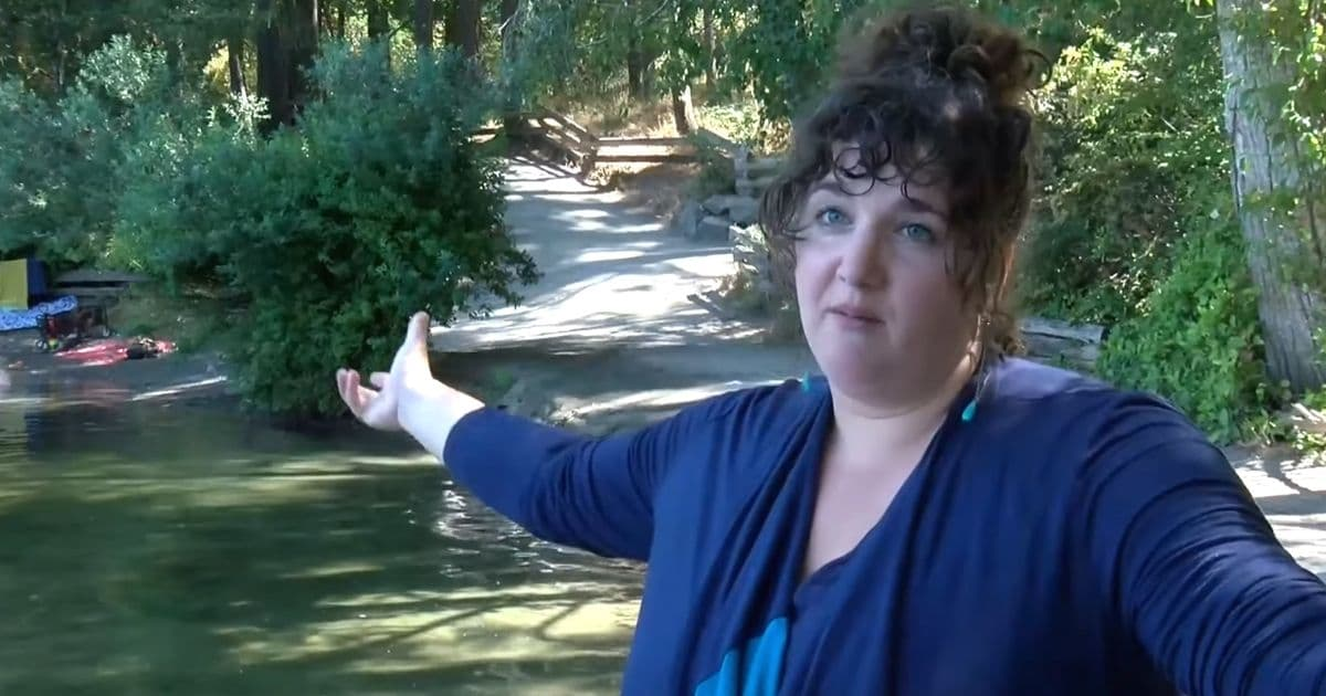 woman helps family from drowning