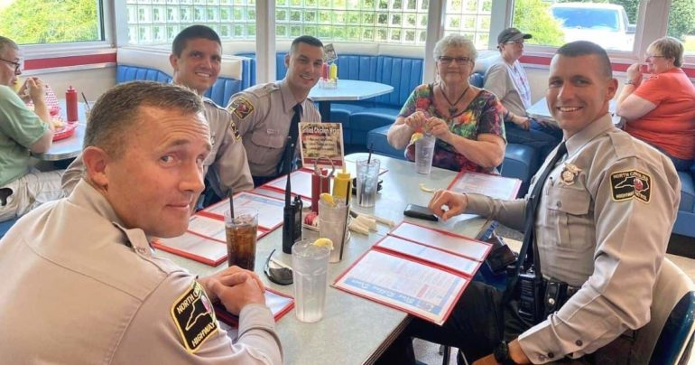 officers treat stranded woman North Carolina
