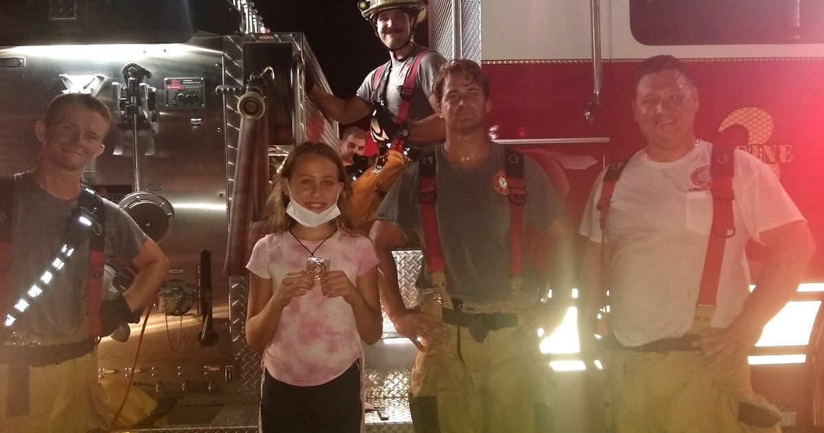 girl saves puppy from house fire