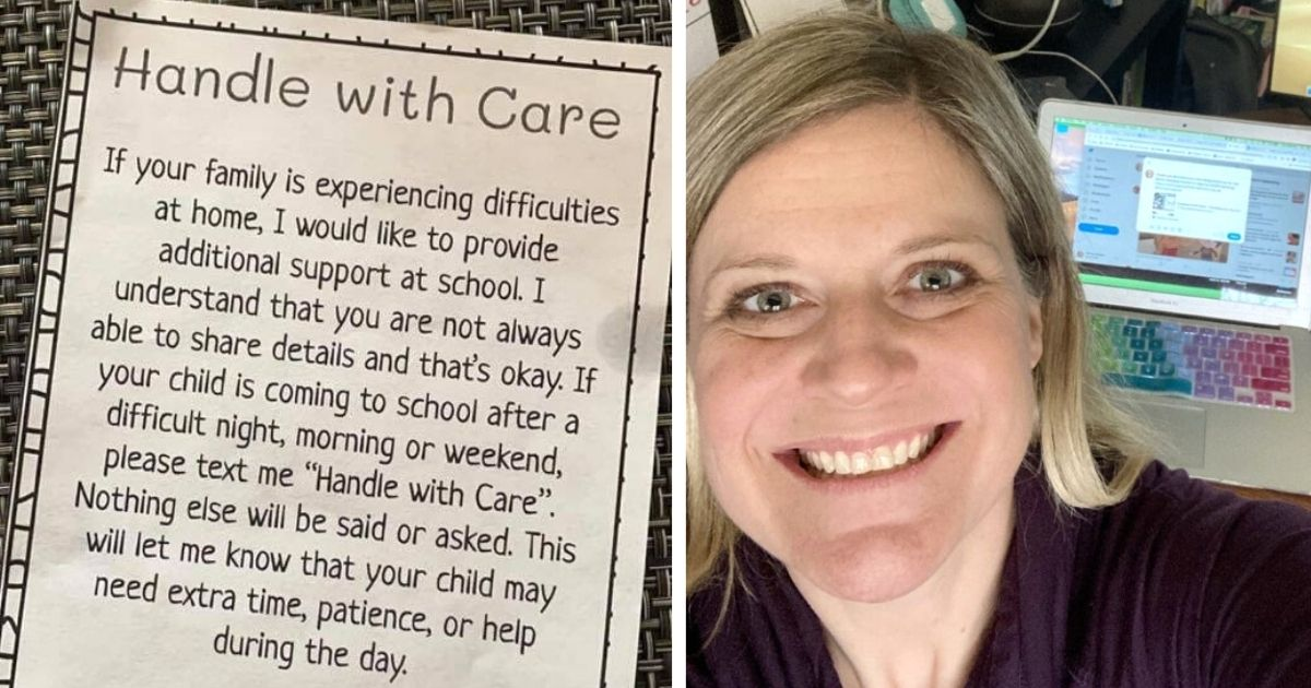 handle with care teacher note