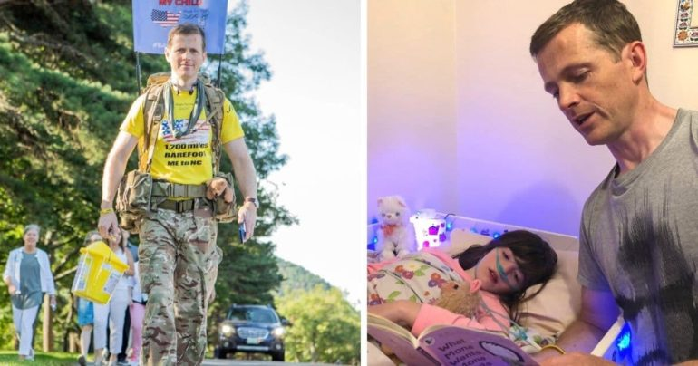 army dad walks for daughter
