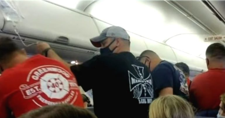 off duty firefighters save man on flight