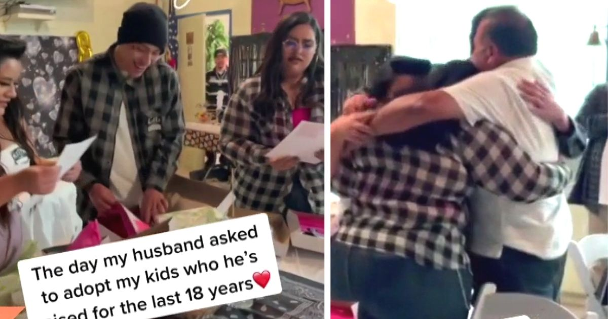 Stepdad Surprises 3 Young Adults With Adoption Papers And Their Reactions Are Priceless