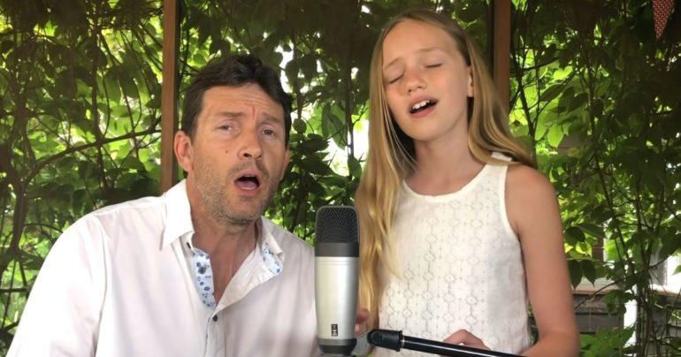 hallelujah daddy daughter duet
