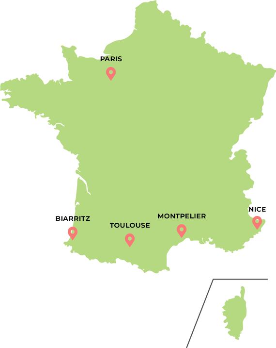 フランスのマップ