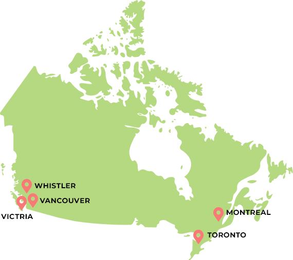 カナダマップ
