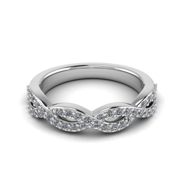 Infinity Knot Half Set Ring