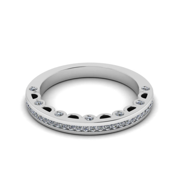Channel Full Set Ring with Detailed Walls