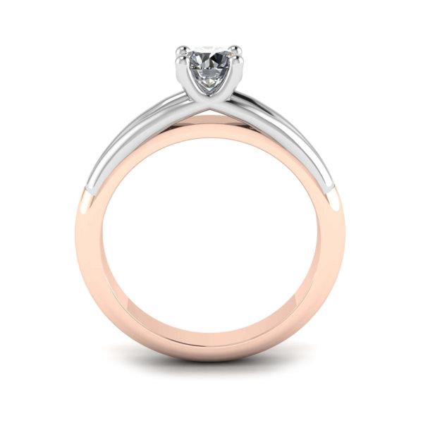 Timeless Split Shank Solitaire Engagement Ring