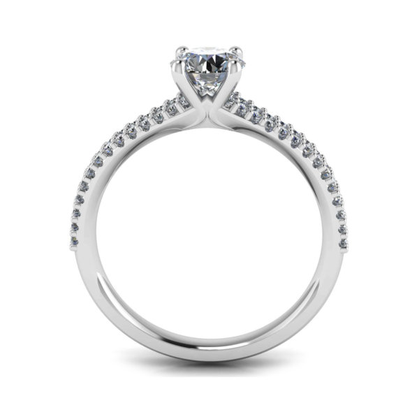 Solitaire Engagement Ring with Claw Set Shoulder