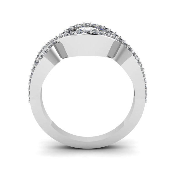 Infinity Knot Inspired Solitaire Engagement Ring