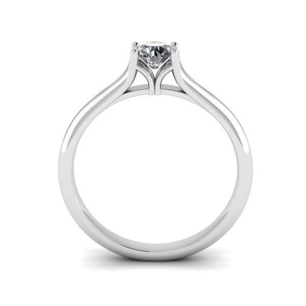 Elegant Split Shank Solitaire Engagement Ring