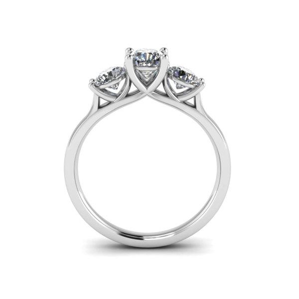Elegant Trilogy Engagement Ring