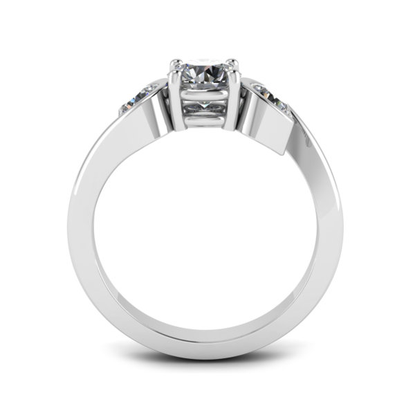 Asymmetric Contemporary Trilogy Engagement Ring