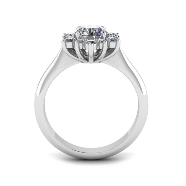 Claw Set Halo Engagement Ring