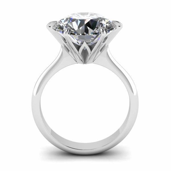 Fire Solitaire Engagement Ring