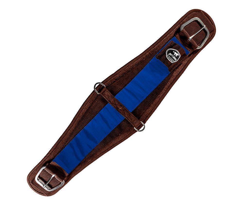 Barrigueira Dry Larga Boots Horse Marrom e Azul
