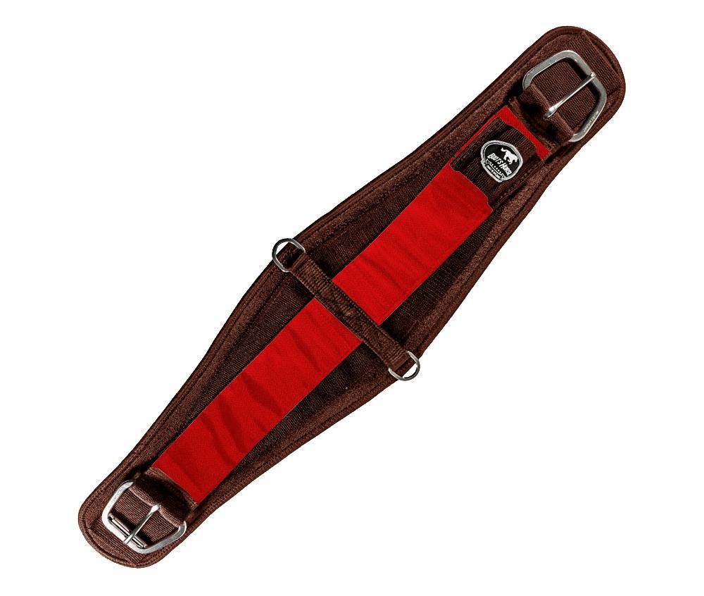 Barrigueira Dry Larga Boots Horse Marrom e Vermelho