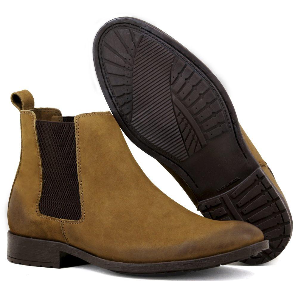 Botina Chelsea Boots Classica Casual Masculina em Couro