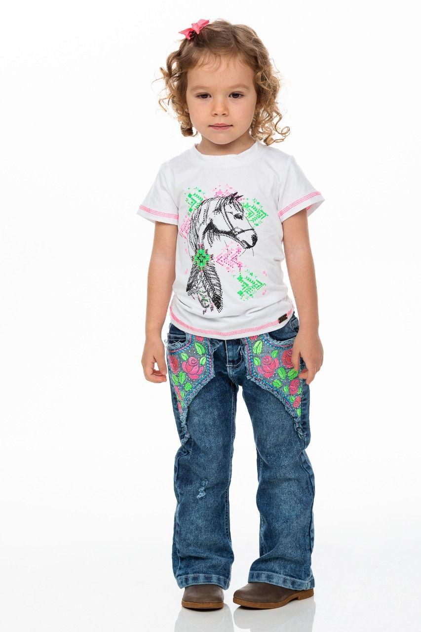 Calça Jeans Feelings Infantil Miss Country