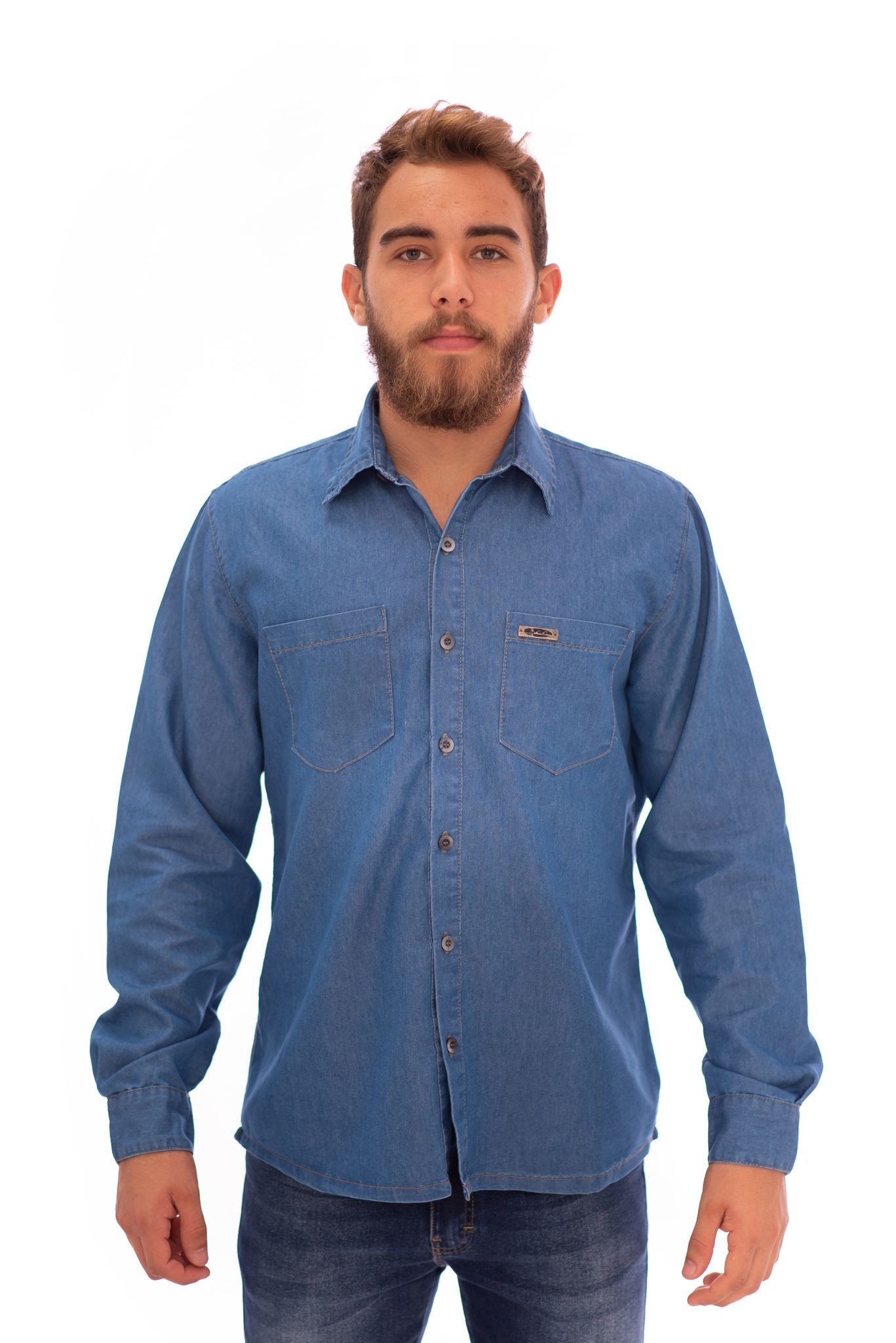 CAMISA JEANS MASCULINA REF. 405