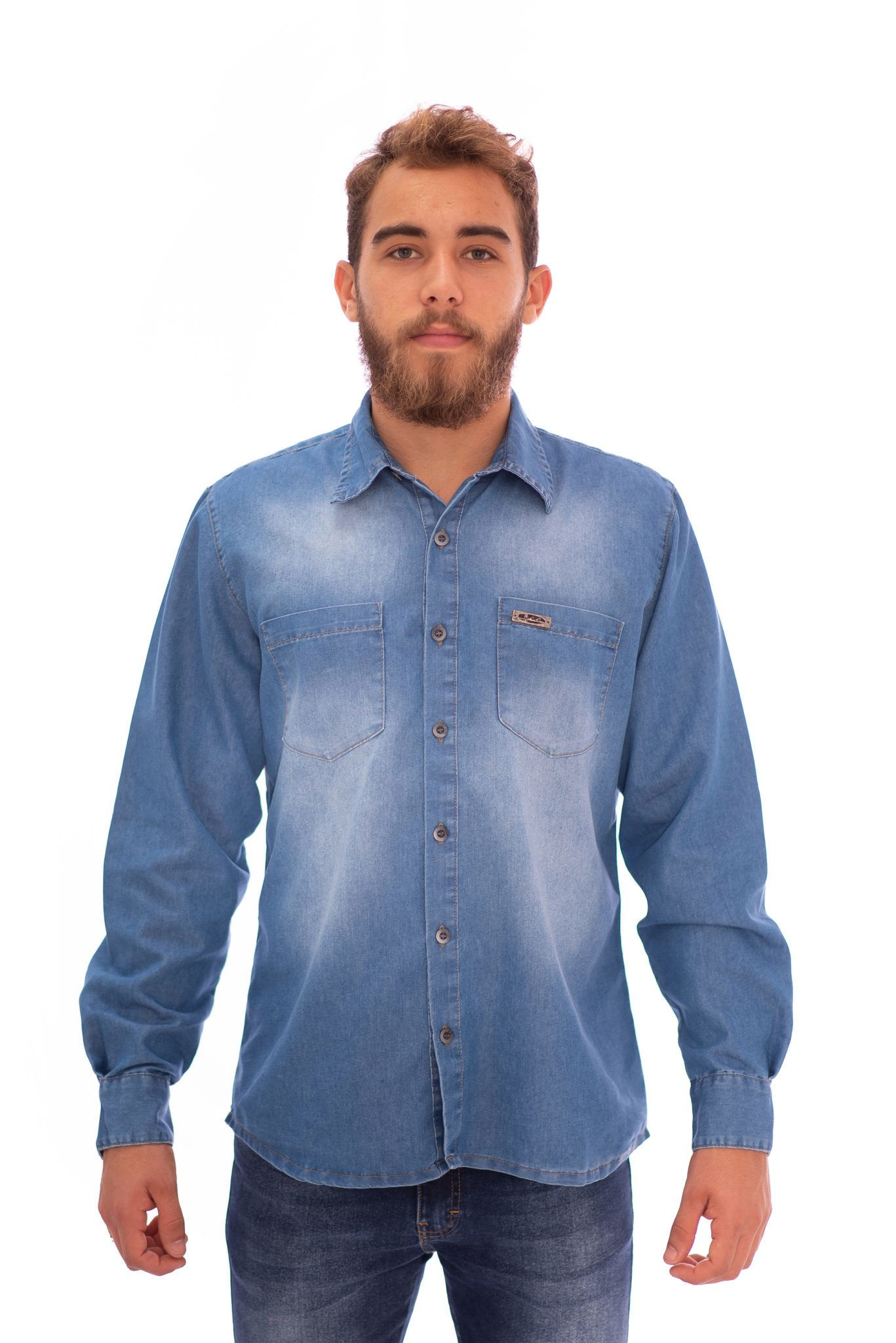 CAMISA JEANS MASCULINA REF. 406