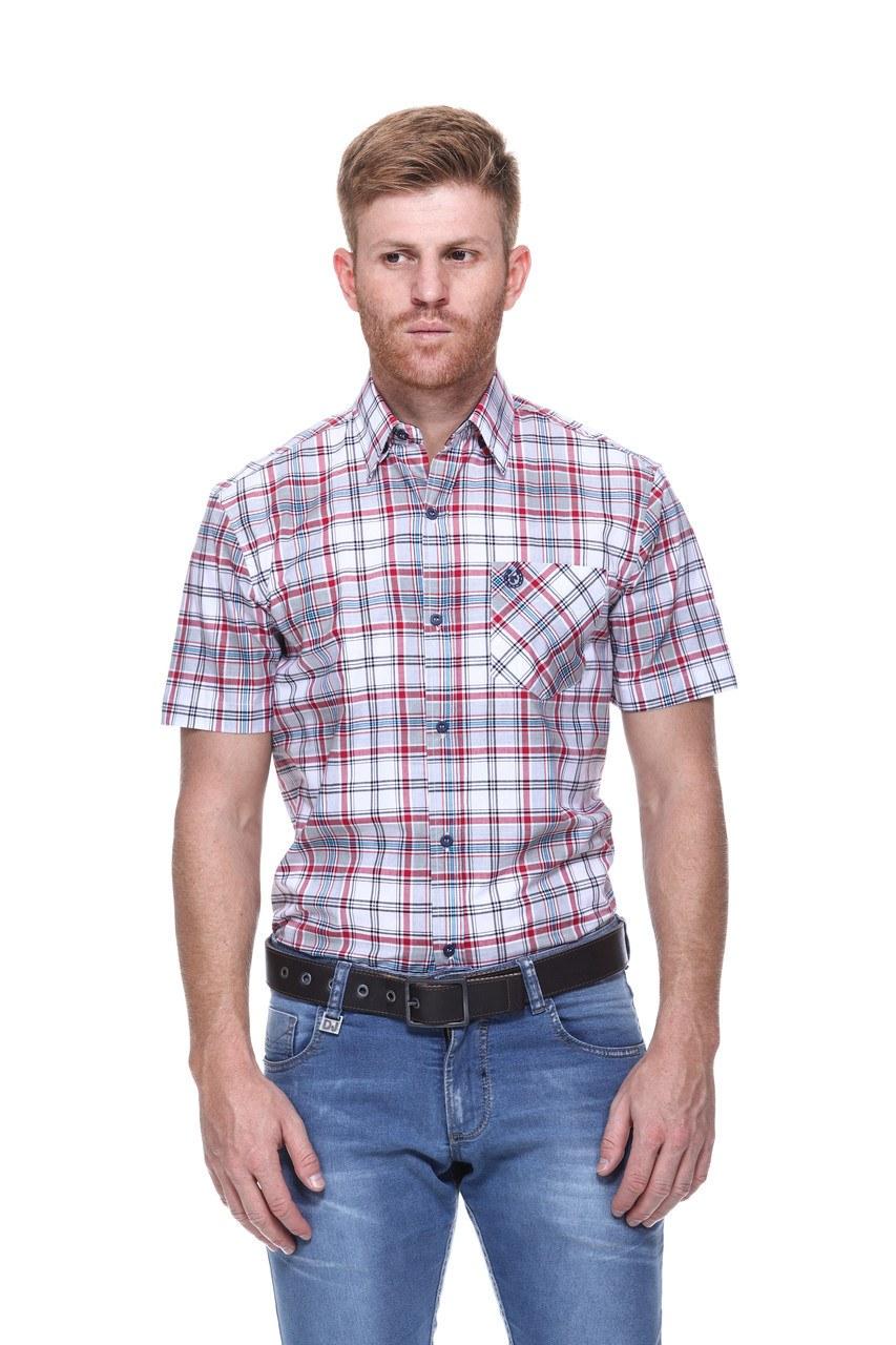 Camisa Masculina Uso Country Manga Curta Xadrez