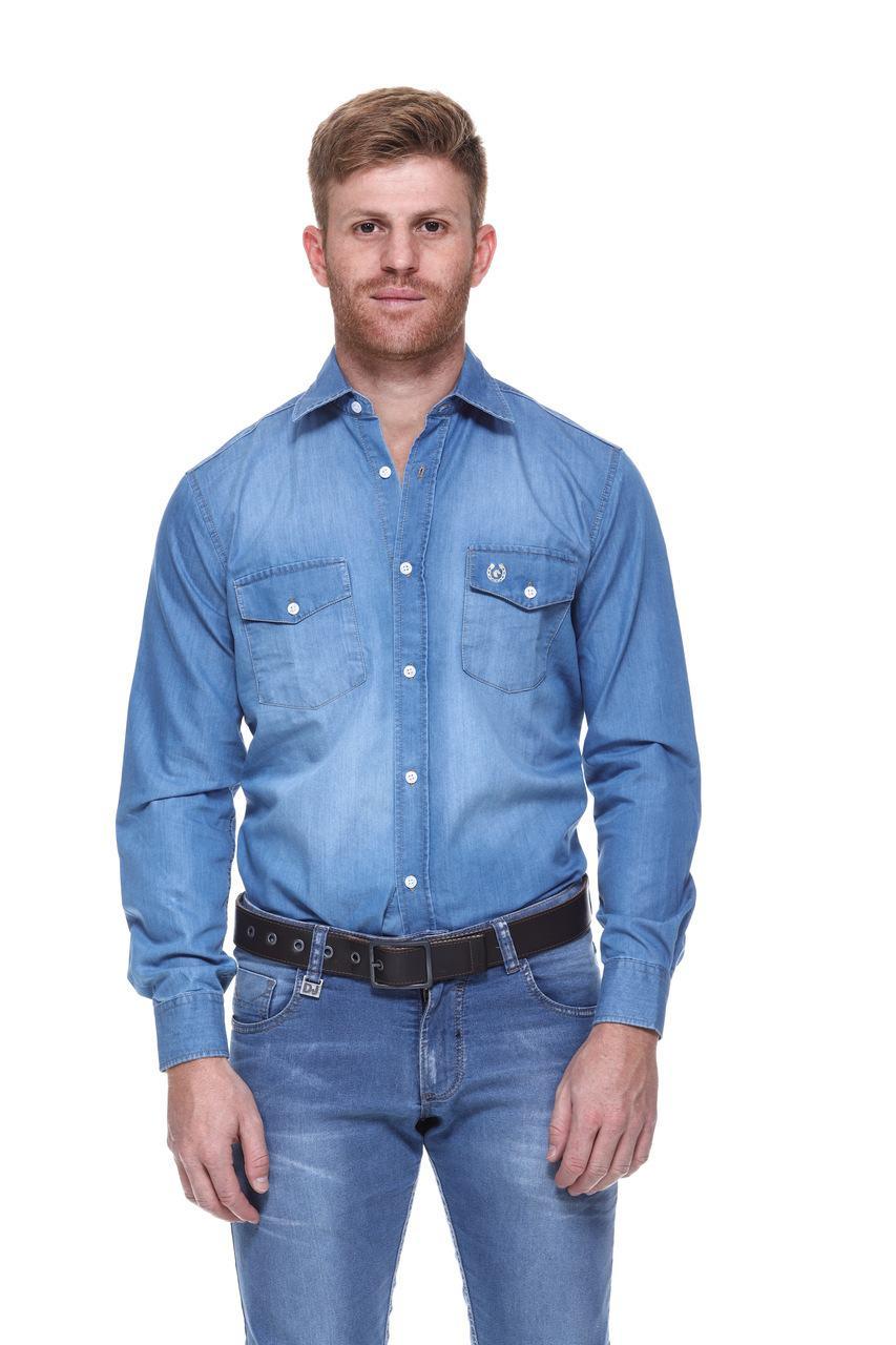 Camisa Masculina Uso Country Manga Longa