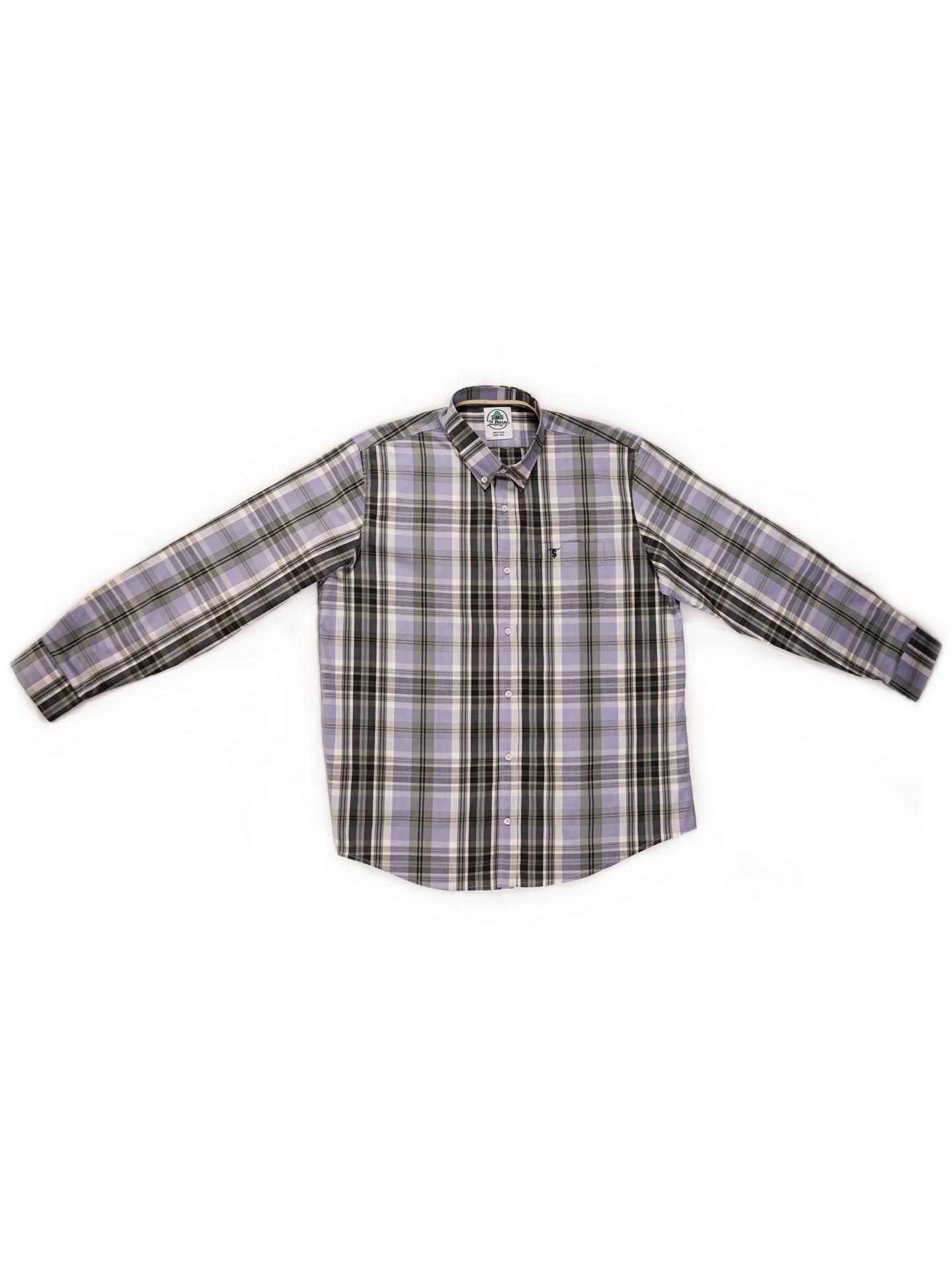 Camisa Xadrez Masculina St. Barn Manga Longa