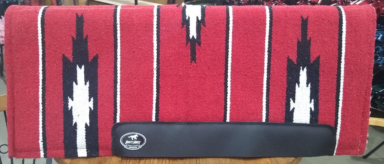 Manta Combat Boots Horse Vermelho