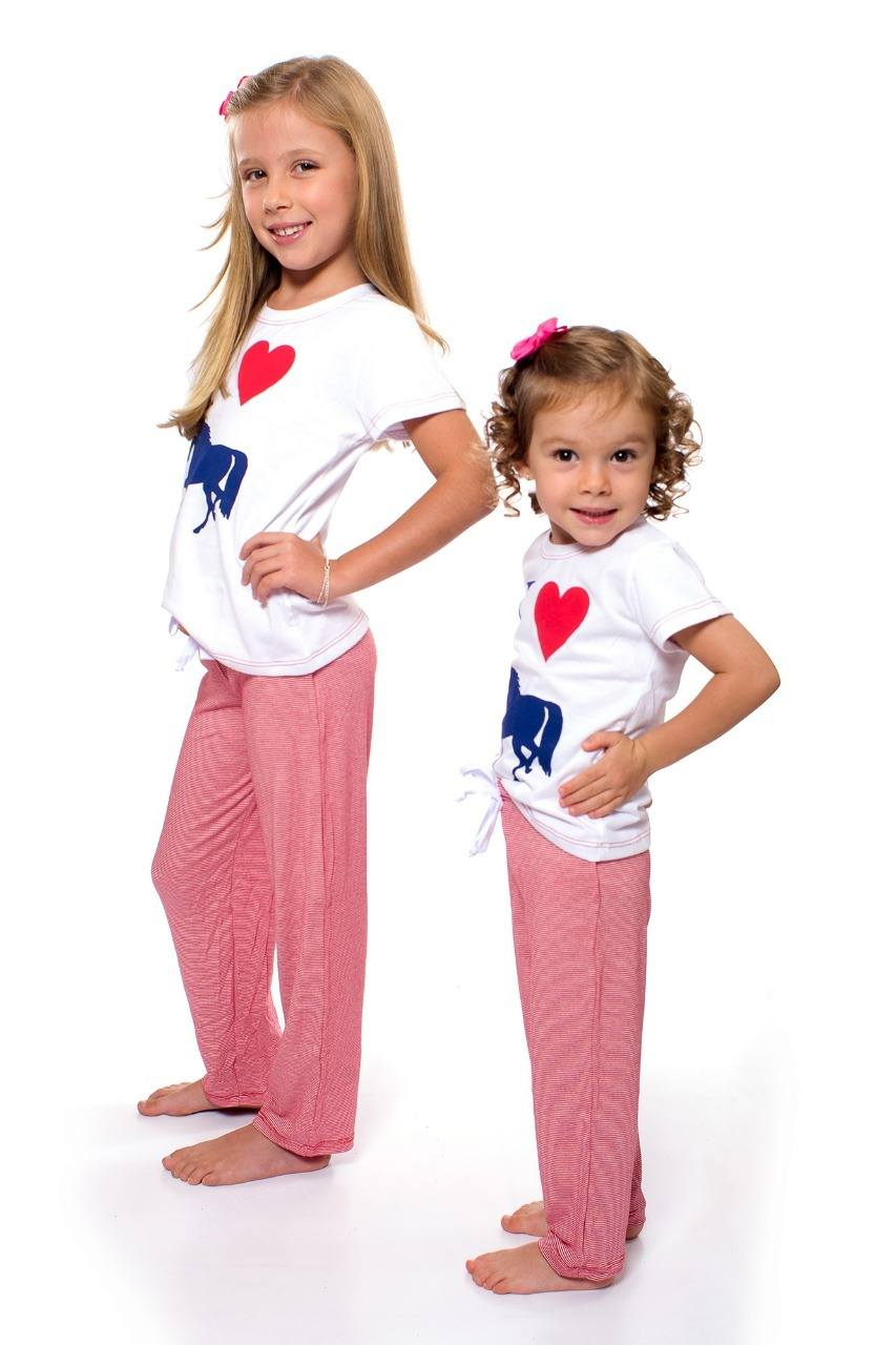 Pijama Love Infantil Miss Country