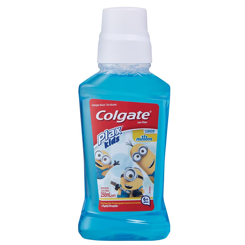 colgate enjuague bucal plax kids minions x 250 ml