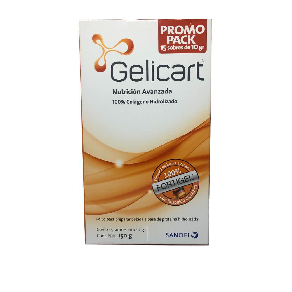gelicart colageno hidrolizado x 15 sobres