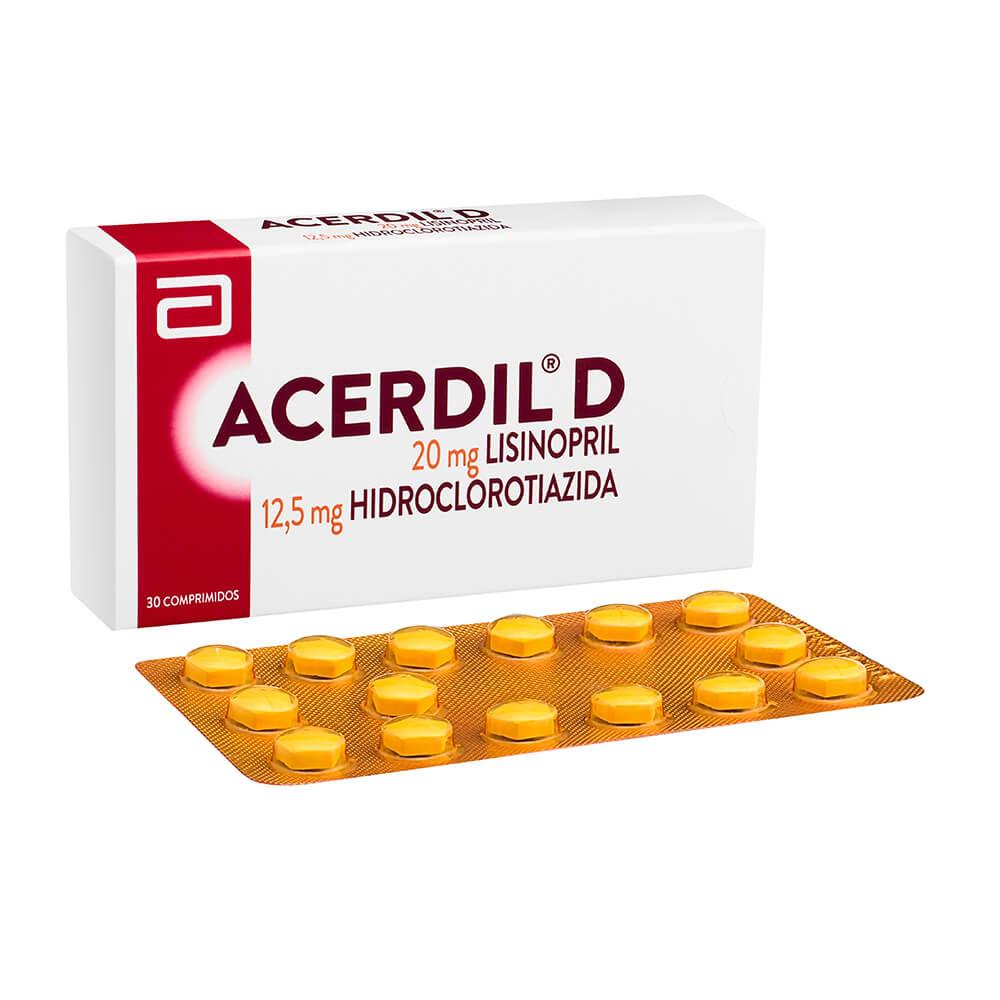 acerdil-d 20 mg/12,5 mg x 30 comprimidos