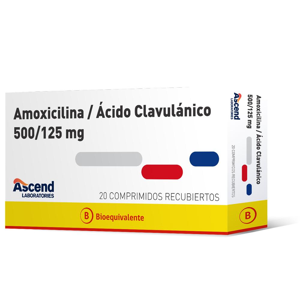 amoxicilina 500 mg + acido clavulanico 125 mg x 20 comprimidos