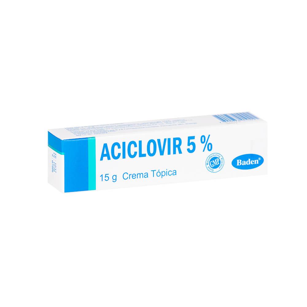 aciclovir 5 % x 15 g crema dérmica