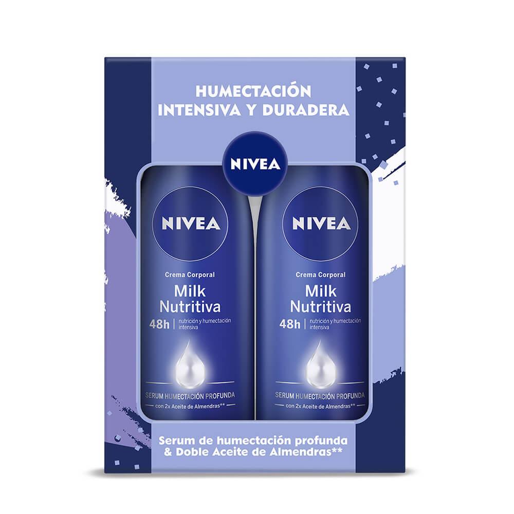nivea pack crema corporal milk nutritiva nutrición y humectacion profunda 400 ml x 1 pack mamá
